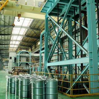 Thermal dipping galvanizing unit